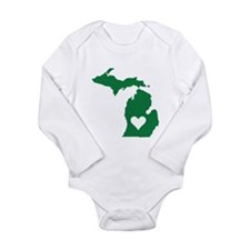 Cute Michigan Long Sleeve Infant Bodysuit