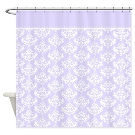 pretty purple french damask pattern royal and luxurious shower curtain