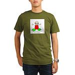 Dinosaur teeth Organic Men's T-Shirt (dark)