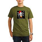 Space bunny Organic Men's T-Shirt (dark)
