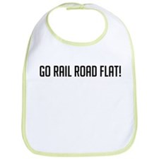 Go Rail Road Flat Bib