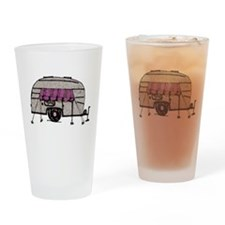 Vintage Airstream Camper Trailer Art Drinking Glas