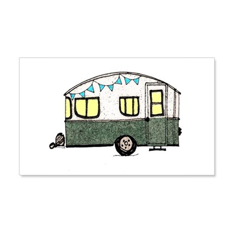 Airstream Gifts > Airstream Wall Decals > Vintage Camper Trailer with ...