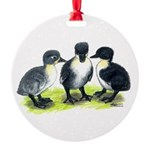 Blue Swedish Ducklings Round Ornament