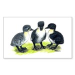 Blue Swedish Ducklings Sticker (Rectangle 50 pk)