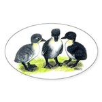 Blue Swedish Ducklings Sticker (Oval 10 pk)