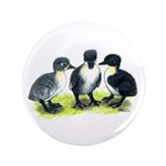 "Blue Swedish Ducklings 3.5"" Button (100 pack)"