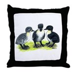 Blue Swedish Ducklings Throw Pillow