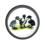 Blue Swedish Ducklings Wall Clock