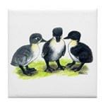 Blue Swedish Ducklings Tile Coaster