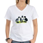 Blue Swedish Ducklings Women's V-Neck T-Shirt