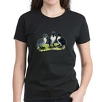 Blue Swedish Ducklings Women's Dark T-Shirt