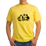 Blue Swedish Ducklings Yellow T-Shirt
