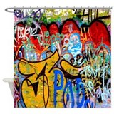 Colorful Graffiti Shower Curtain