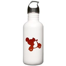 Red Squirrel on Scooter Mosaic Water Bottle