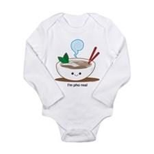 Cute Vietnamese Long Sleeve Infant Bodysuit