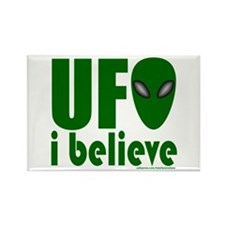 UFO I BELIEVE Rectangle Magnet