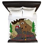 moose fun King Duvet