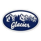 Glacier Oval Sticker Decal