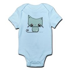Omanju Neko Blue Infant Bodysuit
