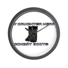 My Daughter wears combat boots.. Wall Clock