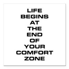 "Comfort Zone Square Car Magnet 3"" x 3"""