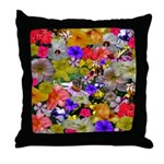 Flower Bed Collection Throw Pillow