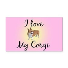 I Love My Corgi Rectangle Car Magnet