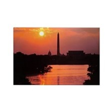 DC sunrise Rectangle Magnet
