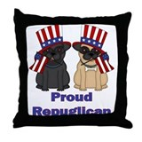 Proud Repuglican Fawn and Black Pugs
