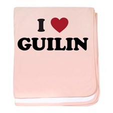 I Love Guilin baby blanket