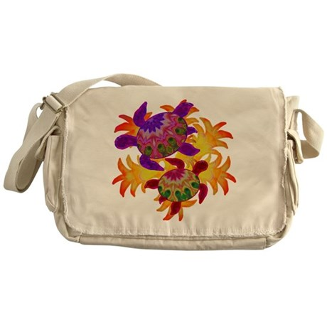 Flaming Turtles Messenger Bag