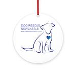 Dog Rescue Newcastle logo Ornament (Round)