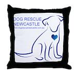 Dog Rescue Newcastle logo Throw Pillow