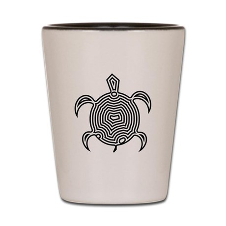 Labyrinth Turtle Shot Glass