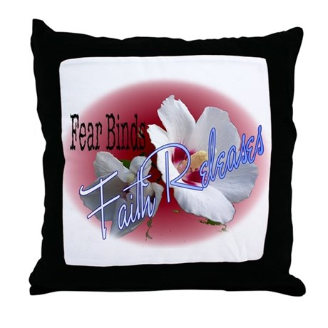 Faith Releases Throw Pillow