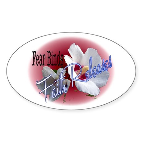 Faith Releases Oval Sticker