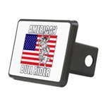 American Bull Rider Rectangular Hitch Cover