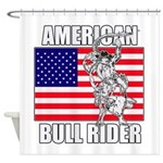 American Bull Rider Shower Curtain