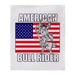 American Bull Rider Throw Blanket