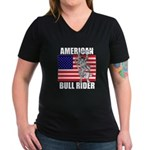 American Bull Rider Women's V-Neck Dark T-Shirt