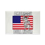 American Bull Rider Rectangle Magnet