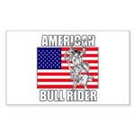 American Bull Rider Sticker (Rectangle)