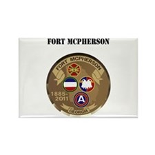 Fort McPherson with Text Rectangle Magnet