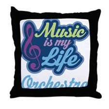 Orchestra Music Quote Throw Pillow