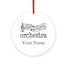 Personalized Orchestra Music Ornament