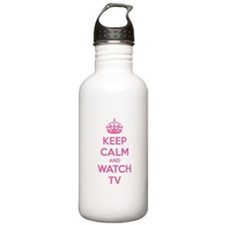 Keep calm and watch tv Water Bottle