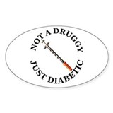 Diabetic Oval Decal