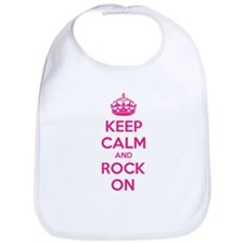 Keep calm and rock on Bib