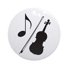 Orchestra Violin Music Ornament
